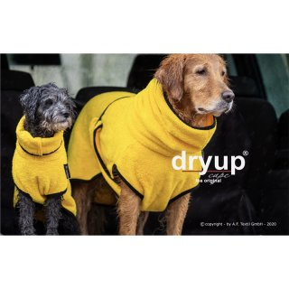 Hundemantel fit4dogs dryup cape Yellow L  65cm