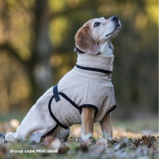 Hundemantel fit4dogs dryup cape Sand