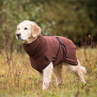 Hundemantel fit4dogs dryup cape braun