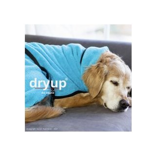Hundemantel fit4dogs dryup cape Cyan S  56cm