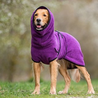 Hundemantel fit4dogs dryup cape Bilberry L  65cm
