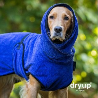 Hundemantel fit4dogs dryup cape Blueberry M  60cm