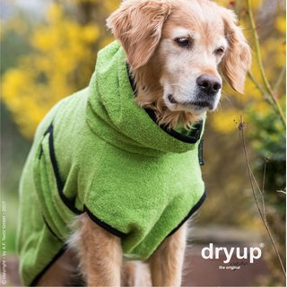 Hundemantel fit4dogs dryup cape Kiwi M  60cm