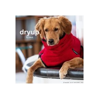 Hundemantel fit4dogs dryup cape Red Pepper