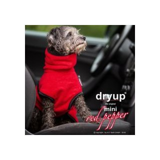 Hundemantel fit4dogs dryup cape Red Pepper Mini Cape 35cm