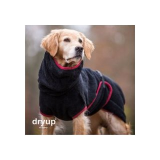 Hundemantel fit4dogs dryup cape Schwarz L  65cm