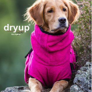 Hundemantel fit4dogs dryup cape Pink L  65cm