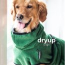Hundemantel fit4dogs dryup cape Dark Green L   65cm