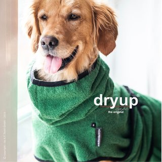 Hundemantel fit4dogs dryup cape Dark Green XL   70cm